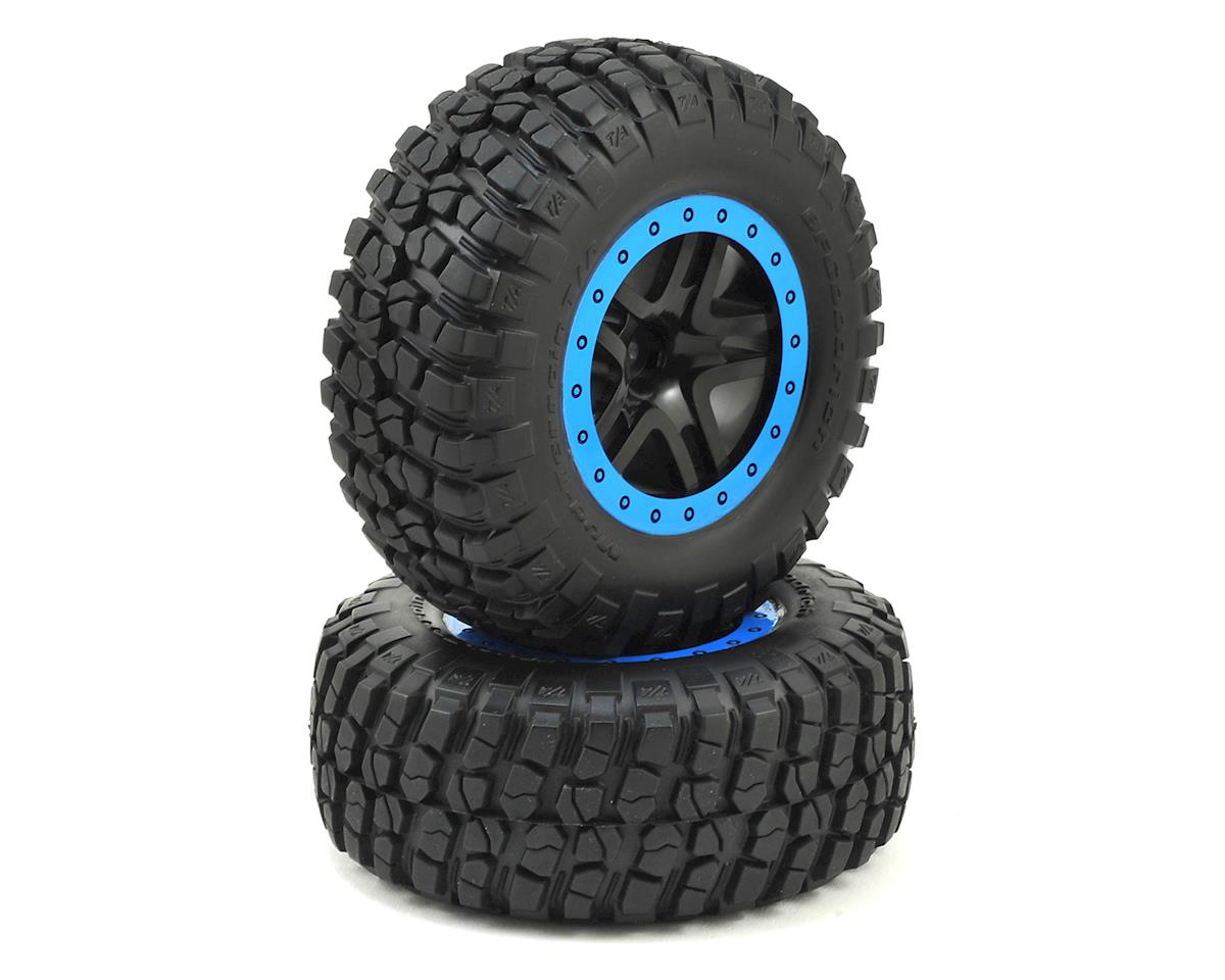 Traxxas BFGoodrich KM2 Front Tire (2) (Black/Blue) (Standard)