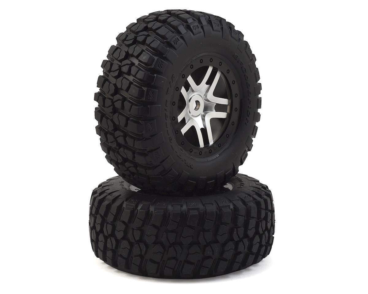 Traxxas BFGoodrich Mud TA Tire w/Split-Spoke Wheel (2) (Satin Chrome) (Standard)