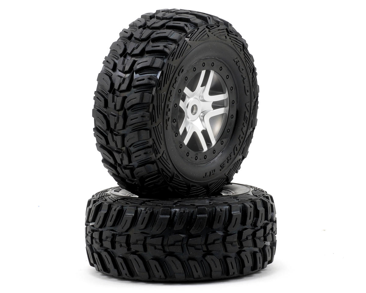 Traxxas Kumho Venture MT Tire w/Split-Spoke Wheel (2) (Satin Chrome) (Standard)