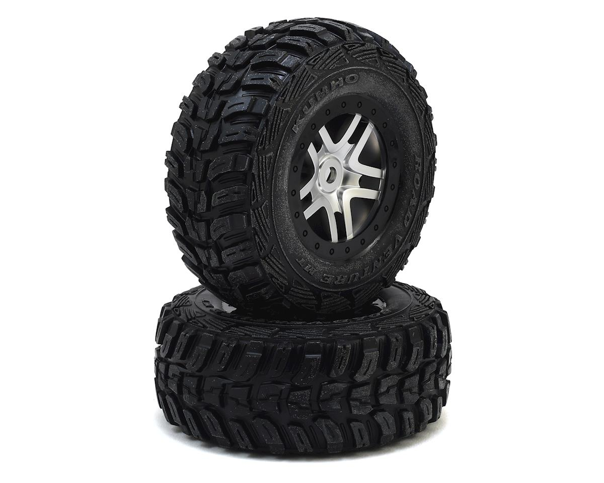 Traxxas Kumho Venture MT Tire w/Split-Spoke Wheel (2) (Satin Chrome) (S1)