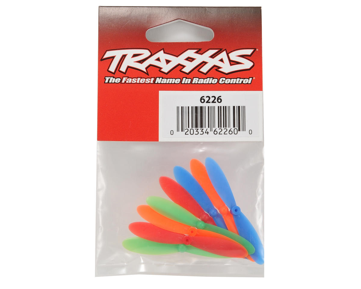 Traxxas Rotor Blade Set (Red, Blue, Green, Orange) (8) (QR-1)