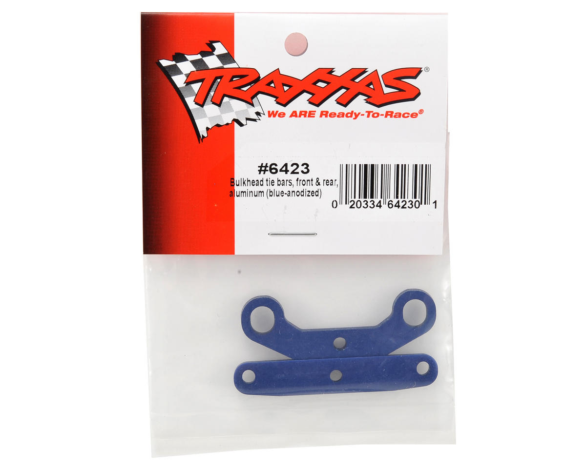 Traxxas Aluminum Front & Rear Bulkhead Tie Bar Set (Blue)