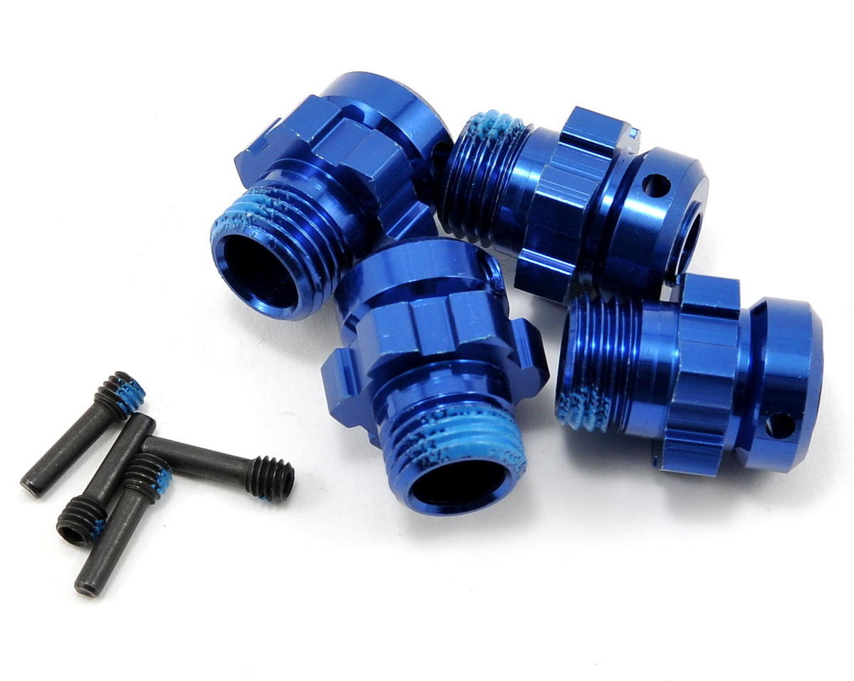 17mm Aluminum Splined Wheel Hub Set (Blue) (4) by Traxxas