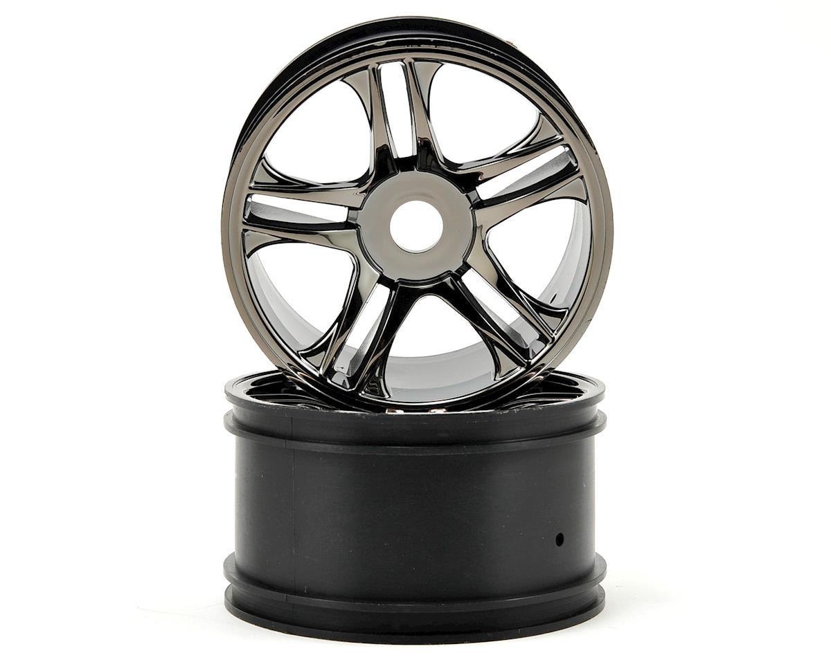 Rear Wheels (2) (Black Chrome) by Traxxas