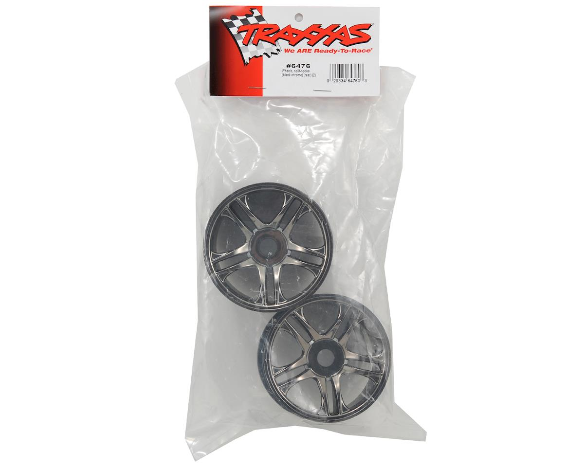 Rear Wheels (2) (Black Chrome) by Traxxas