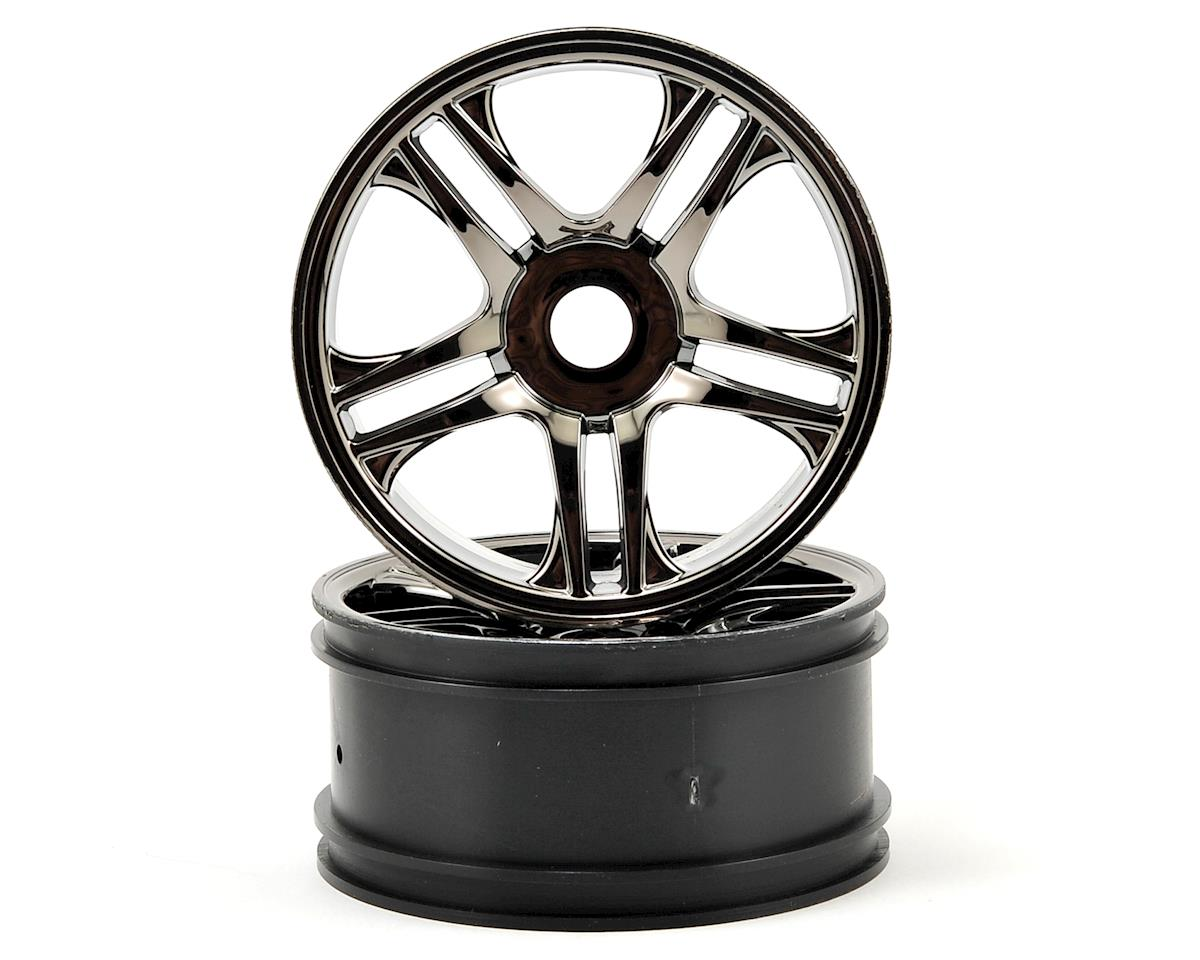 Front Wheels (2) (Black Chrome) by Traxxas