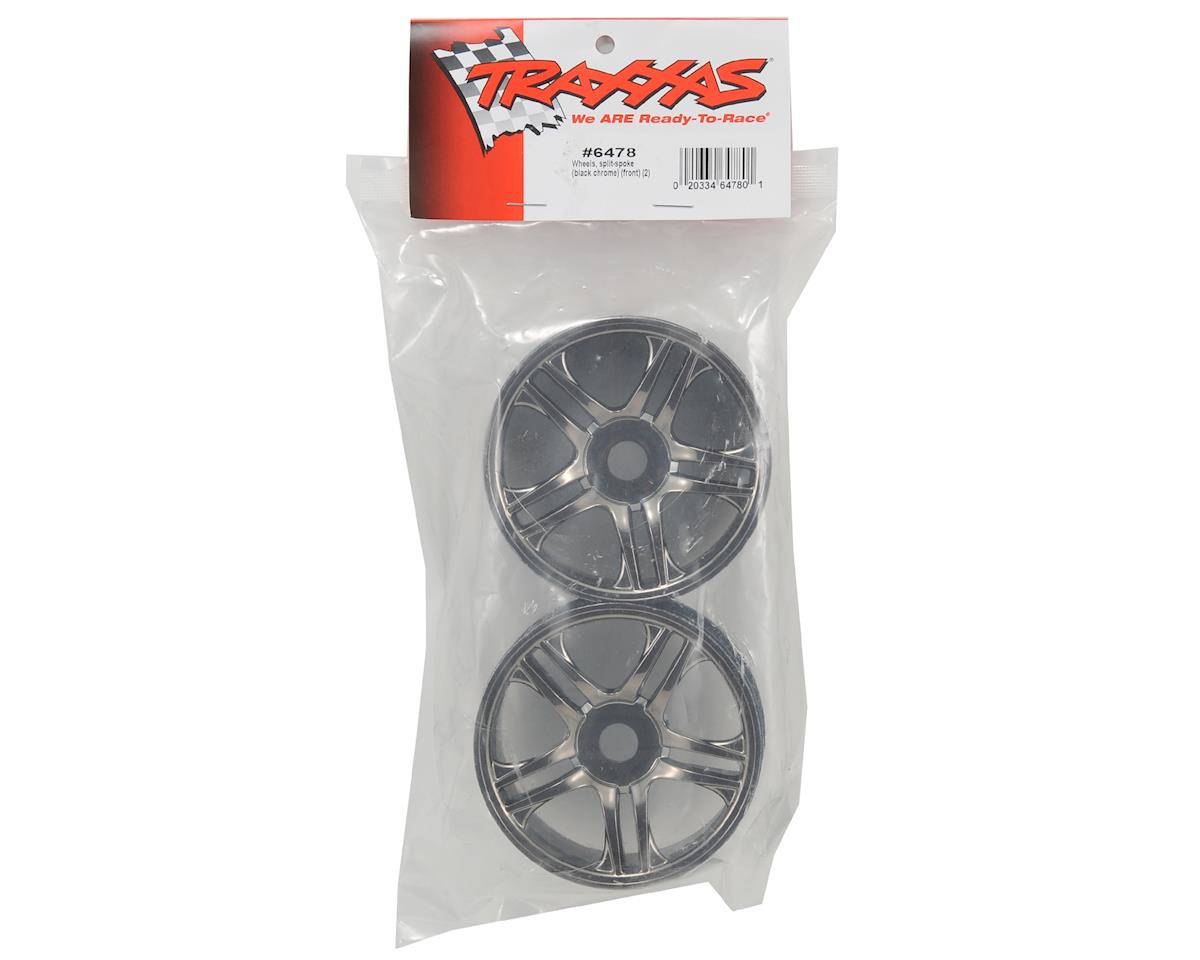 Traxxas Front Wheels (2) (Black Chrome)