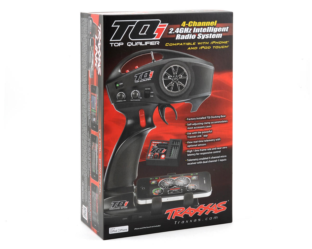 Traxxas TQi 2.4GHz 4-Channel Radio System w/Docking Base & 5-Channel Receiver