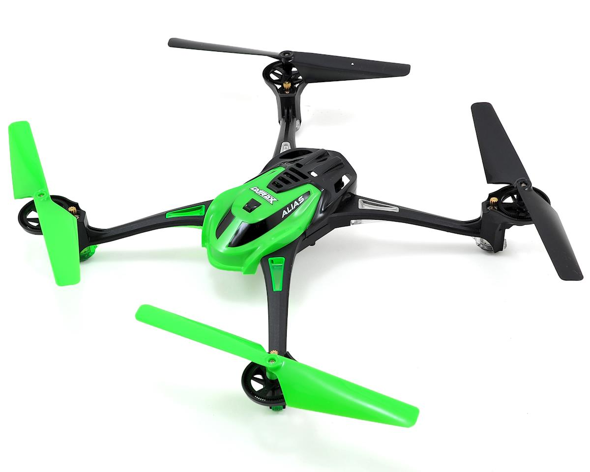 SCRATCH & DENT: Traxxas LaTrax Alias Ready-To-Fly Micro Electric Quadcopter Drone (Green)