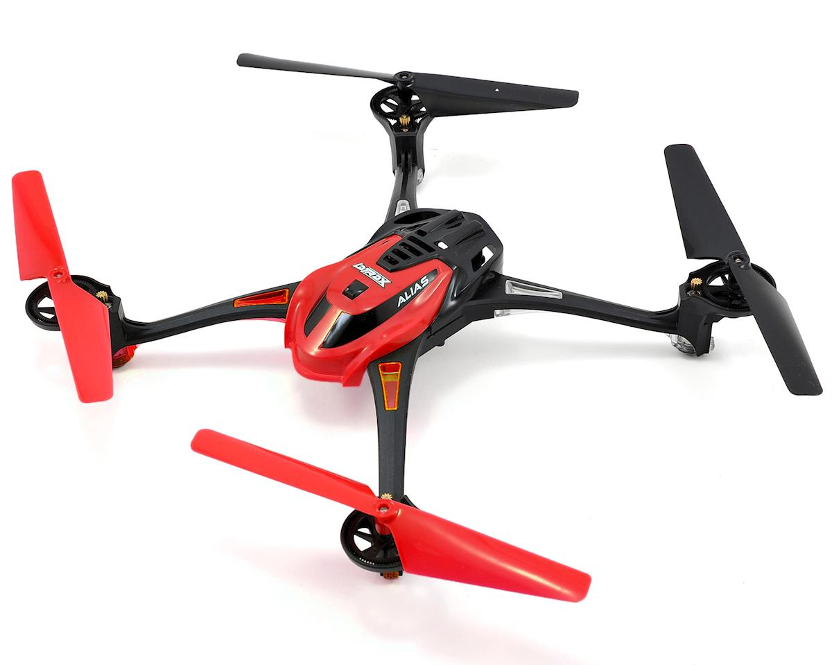 LaTrax Alias Ready-To-Fly Micro Electric Quadcopter Drone (Red)