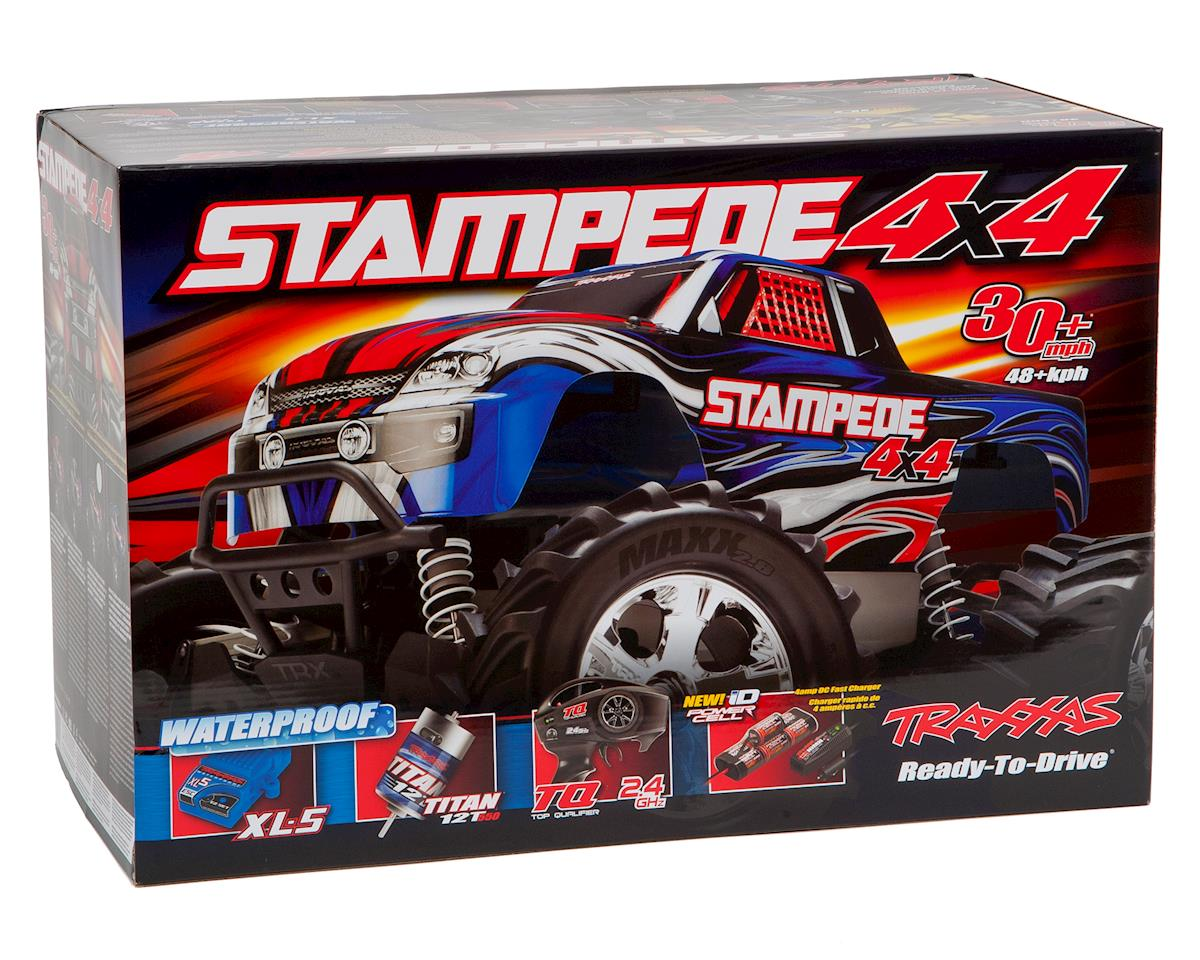 Traxxas Stampede 4x4 Lcg 1 10 Rtr Monster Truck Red Tra67054 Vxl Scale 4wd Brushless W Xl 5 Esc Tq 24ghz Battery Charger