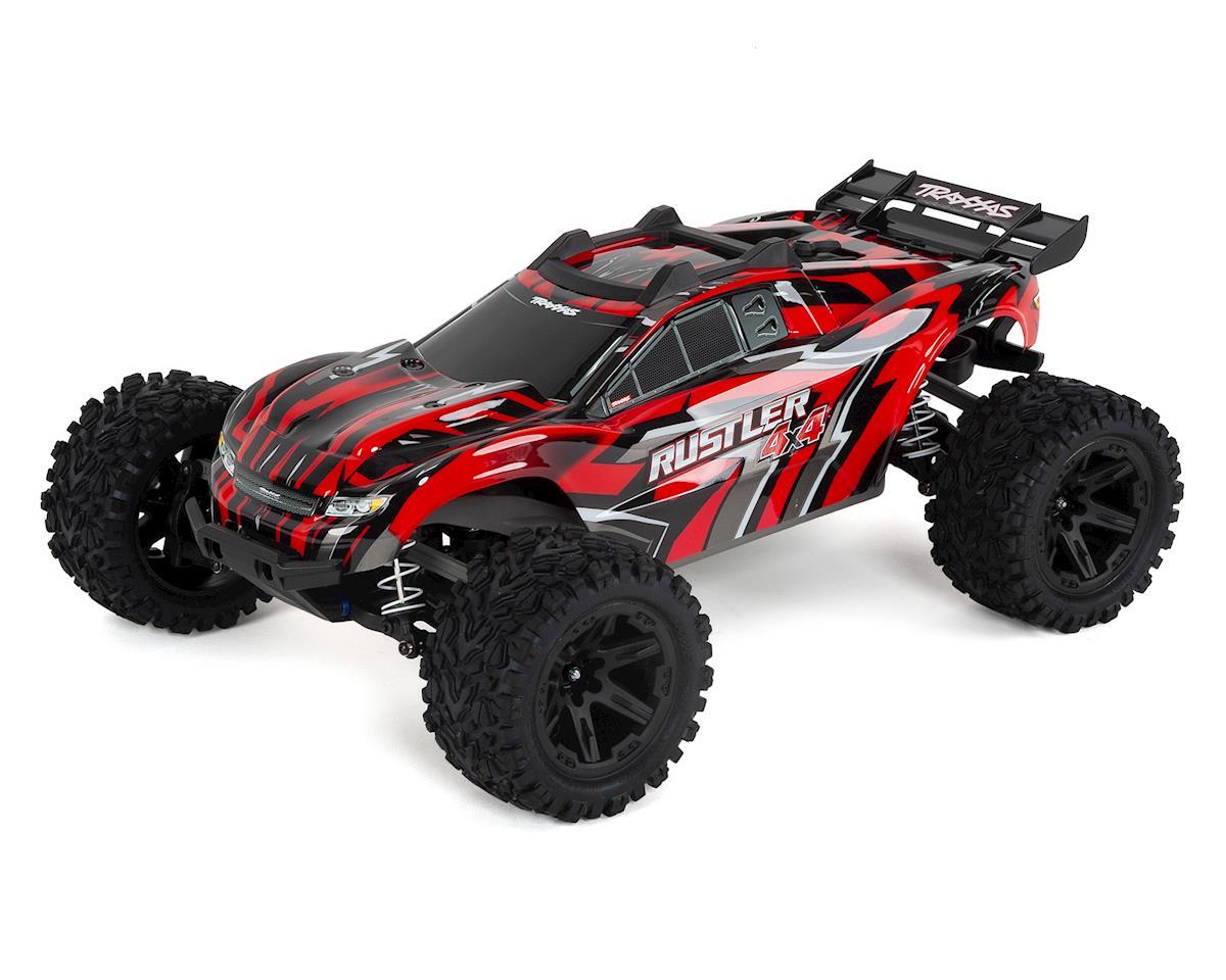 Traxxas Rustler 4X4 1/10 4WD RTR Stadium Truck (Red)