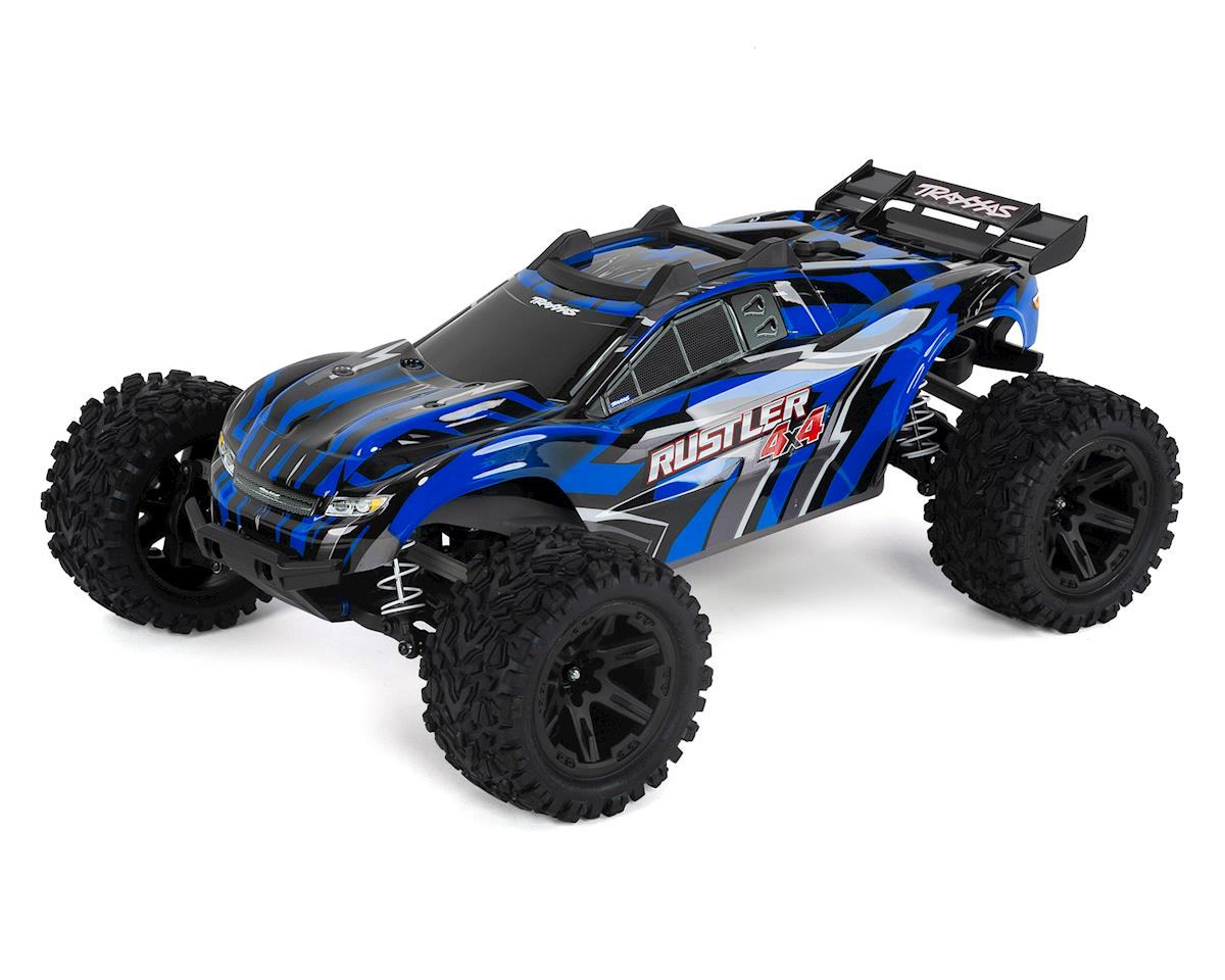 Rustler 4X4 1/10 4WD RTR Stadium Truck (Blue) by Traxxas