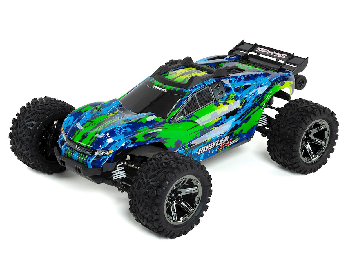 Traxxas Rustler 4X4 VXL Brushless RTR 1/10 4WD Stadium Truck (Green) | relatedproducts