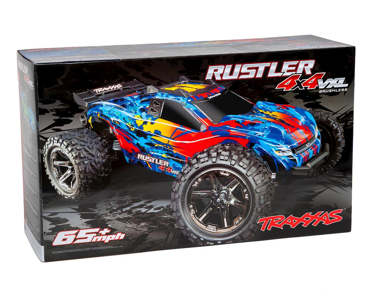 Image 7 for Traxxas Rustler 4X4 VXL Brushless RTR 1/10 4WD Stadium Truck (Red)