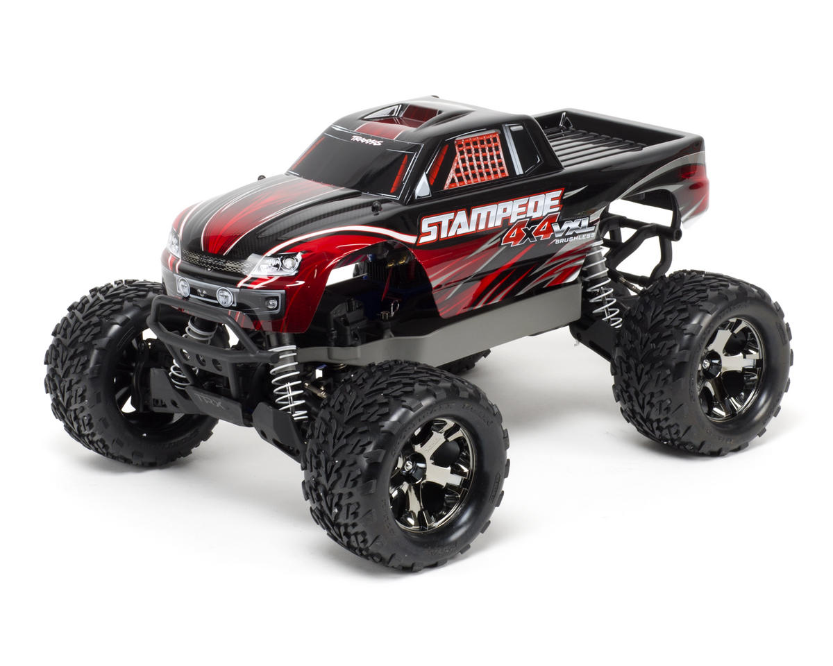Traxxas Stampede 4x4 VXL Brushless RTR Monster Truck w/TQi 2.4Ghz, Battery & Wal