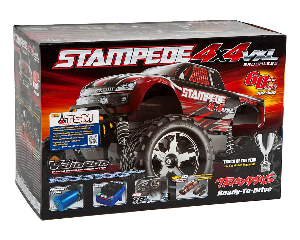 Traxxas Stampede 4X4 VXL Brushless 1/10 4WD RTR Monster Truck (Red)