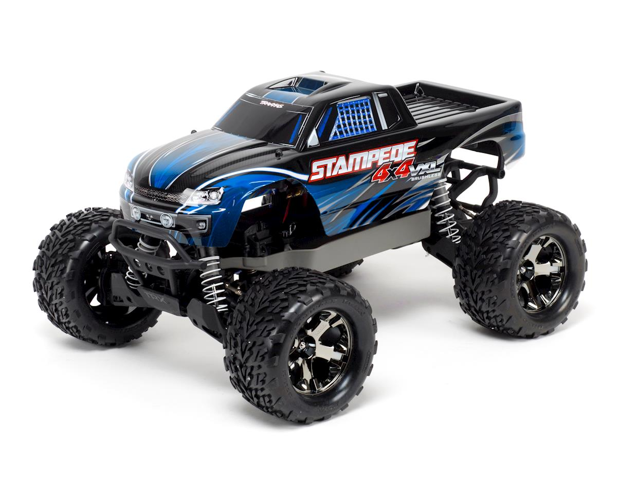 Stampede 4X4 VXL Brushless 1/10 4WD RTR Monster Truck (Blue) by Traxxas
