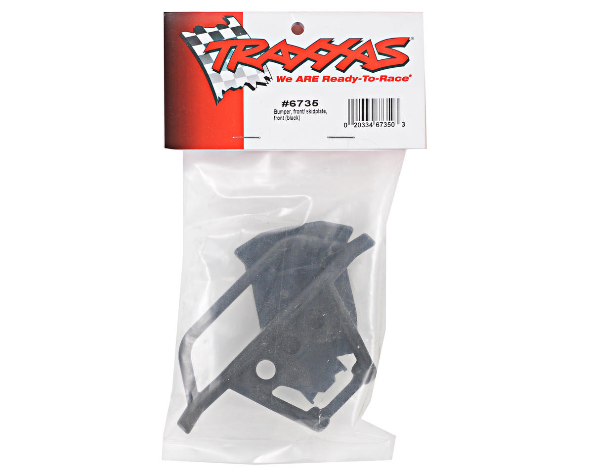 Traxxas Front Bumper/Skidplate Set (Black)