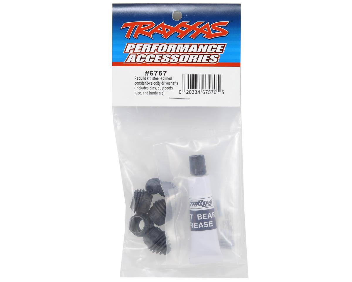 Traxxas TRA6757 Steel Splined Driveshaft Rebuild Kit Front or Rear