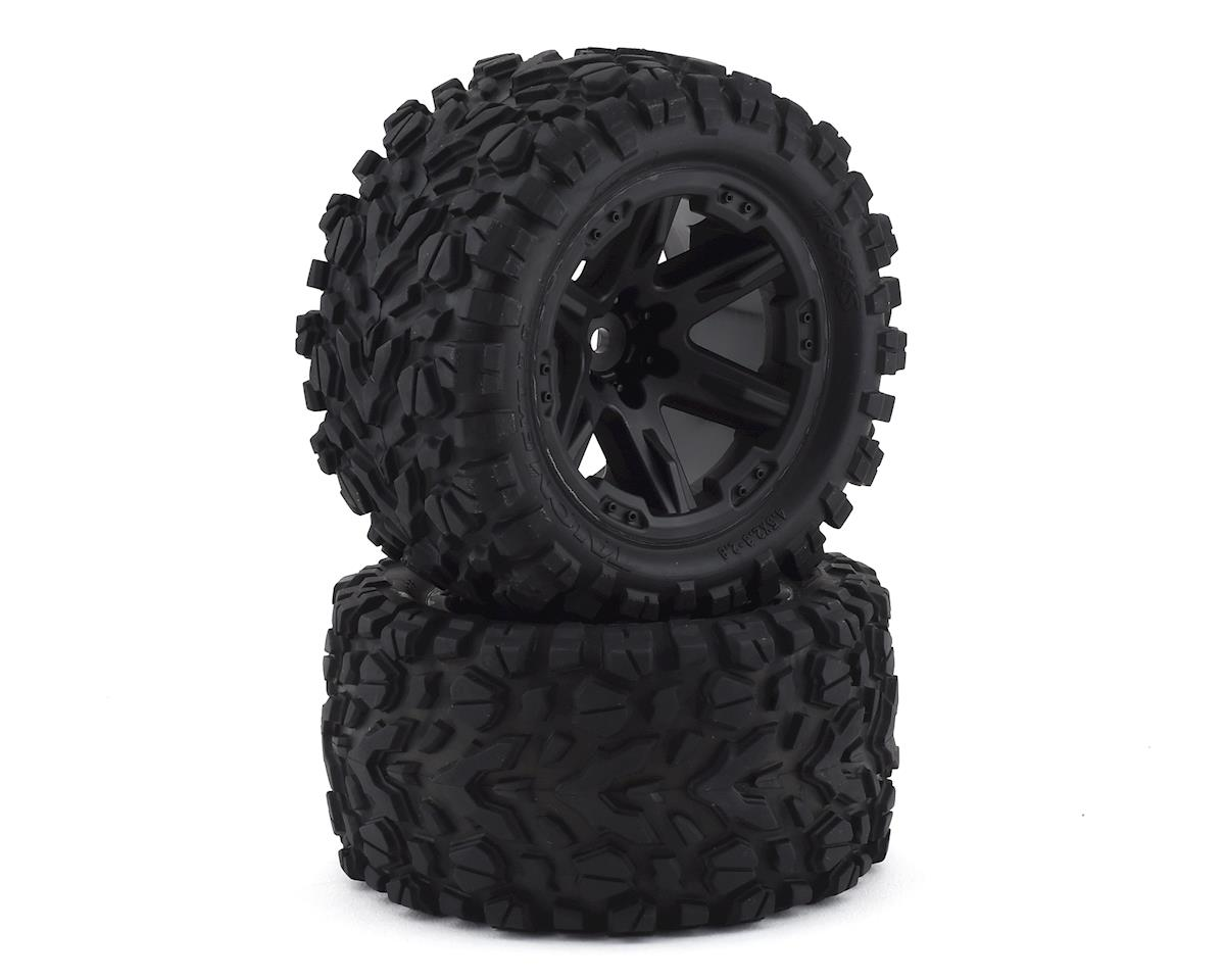 "Traxxas Talon EXT 2.8"" Pre-Mounted Tires w/RXT Wheels (2) (Black) 