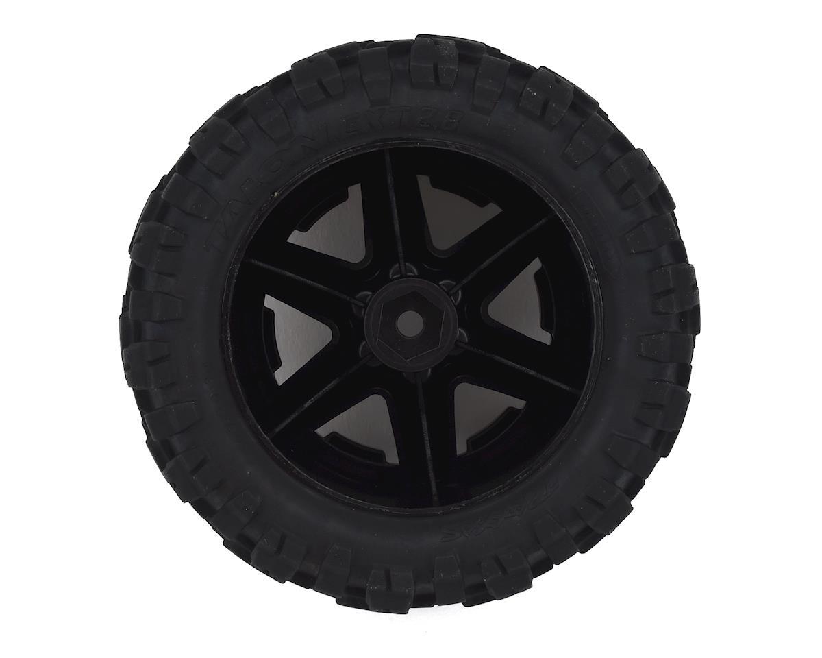 """Traxxas Talon EXT 2.8"""" Pre-Mounted Tires w/RXT Wheels (2) (Black Chrome)"""