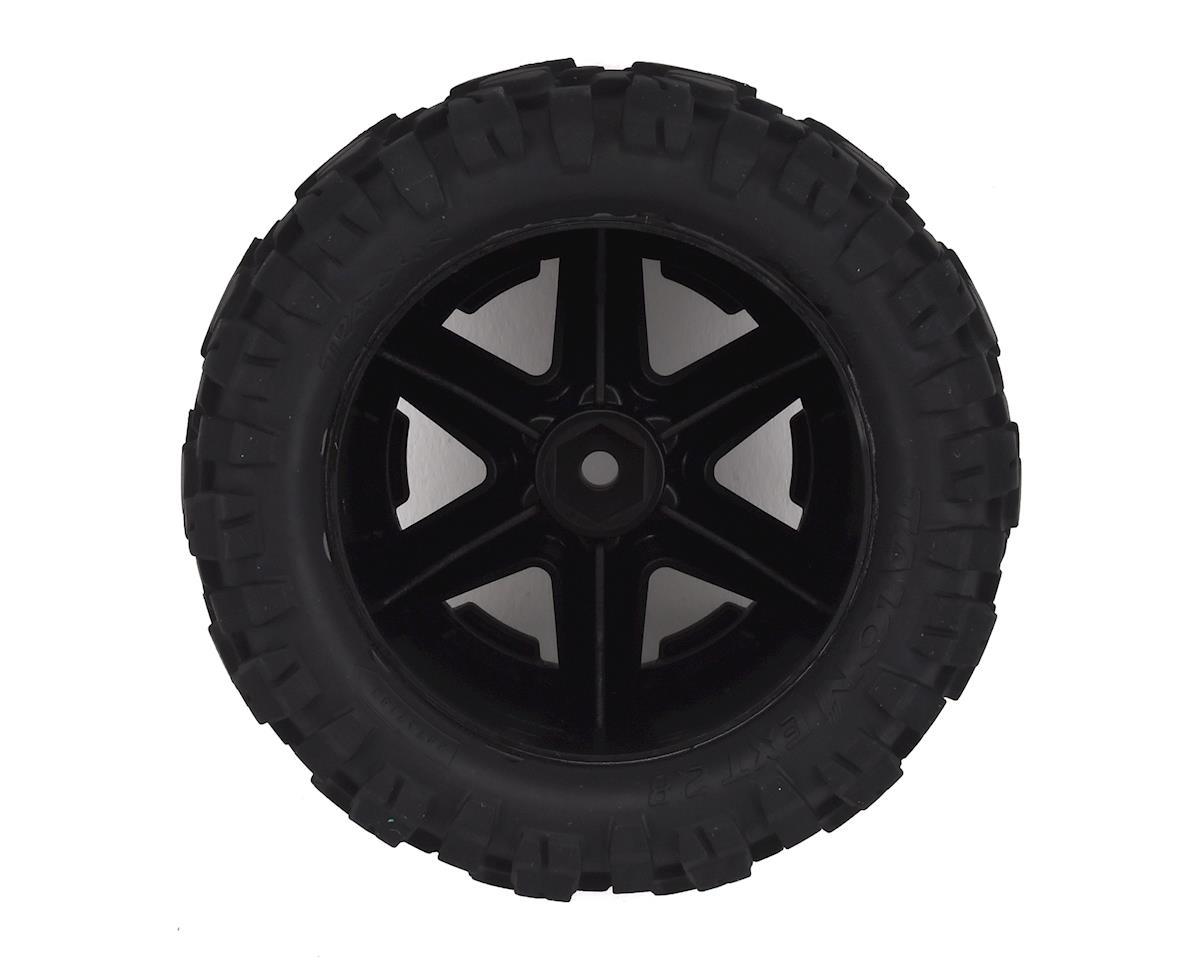 "Traxxas Talon EXT 2.8"" Pre-Mounted Tires w/RXT Wheels (2) (Black)"