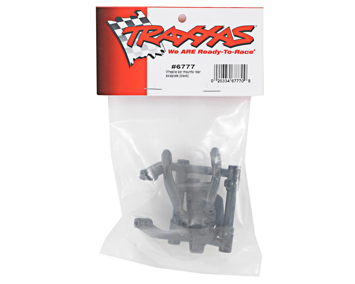 Traxxas Wheelie Bar Mount/Rear Skidplate Set (Black)