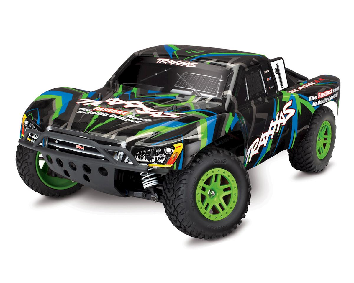Traxxas Slash 4X4 RTR 4WD Brushed Short Course Truck (Green)