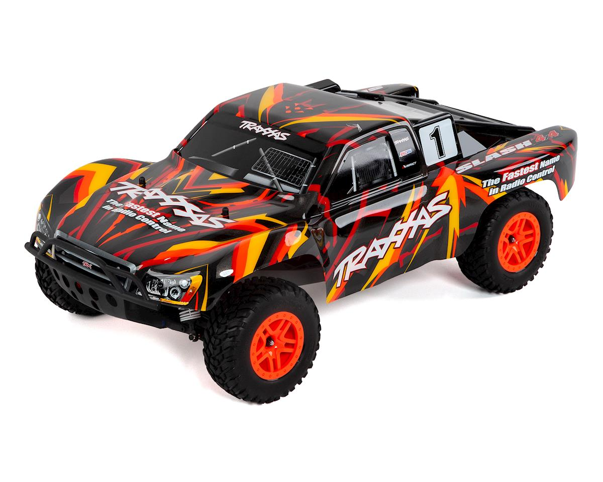 Traxxas Slash 4X4 RTR 4WD Brushed Short Course Truck (Orange)