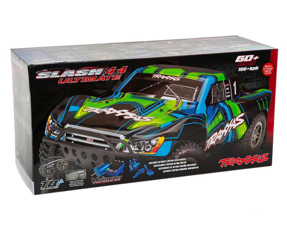 "Traxxas Slash 4X4 ""Ultimate"" RTR 4WD Short Course Truck (Green)"