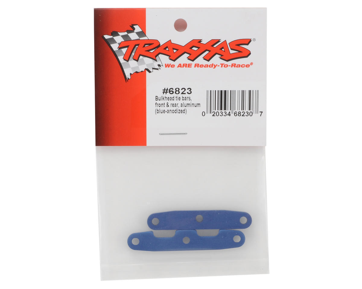 Traxxas Aluminum Bulkhead Front & Rear Tie Bar Set (Blue)
