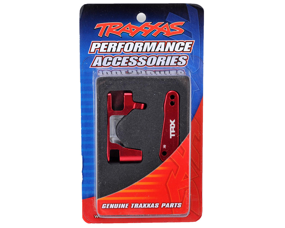 Traxxas Aluminum Caster Block Set (2) (Red)