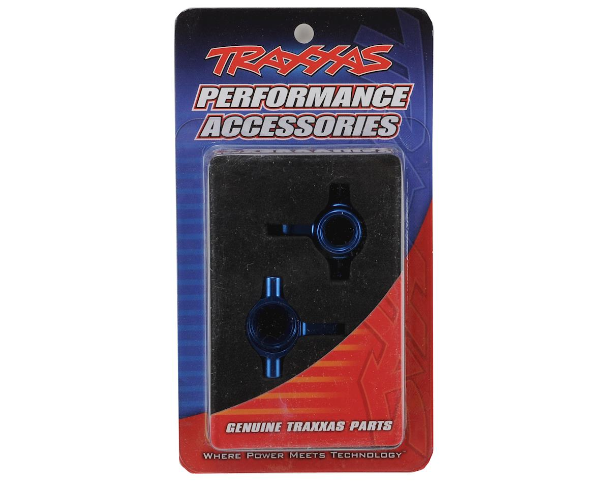 Traxxas Aluminum Steering Block Set (Blue) (2)