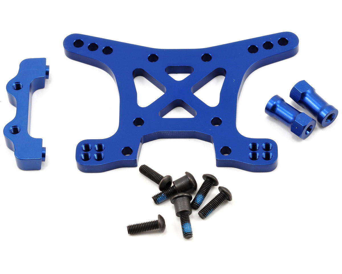 Aluminum Front Shock Tower (Blue) by Traxxas