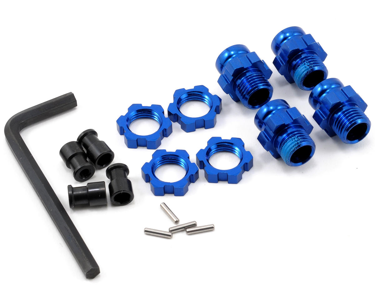 Traxxas Telluride 4x4 Aluminum 17mm Wheel Adapter Set (Blue) (4)