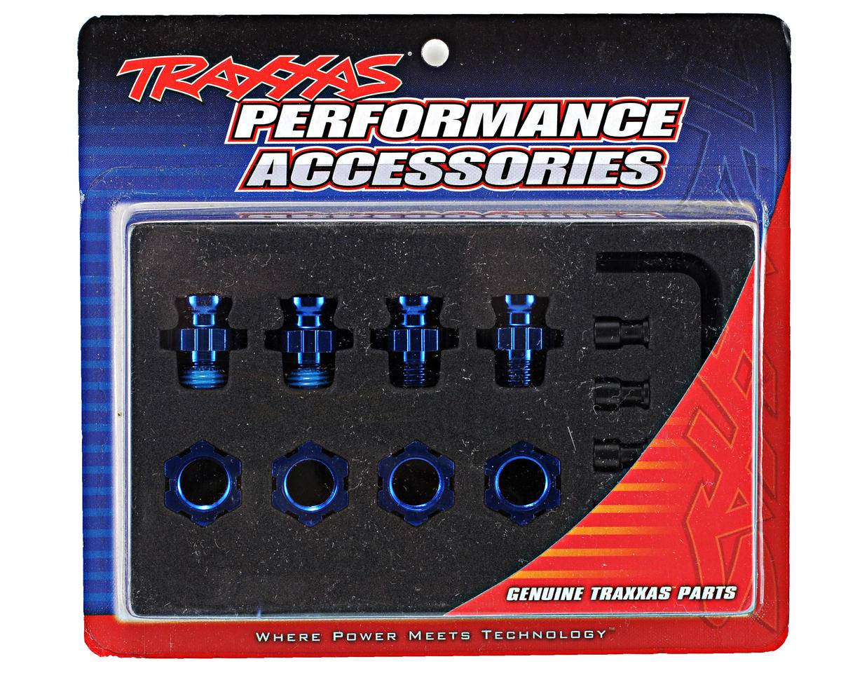 Aluminum 17mm Wheel Adapter Set (Blue) (4) by Traxxas