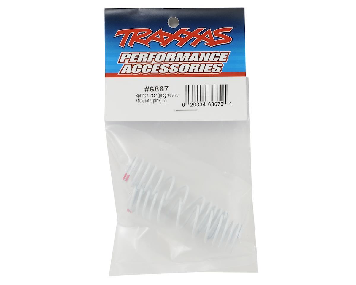 Traxxas Progressive Rate Rear Shock Springs (Pink) (2)