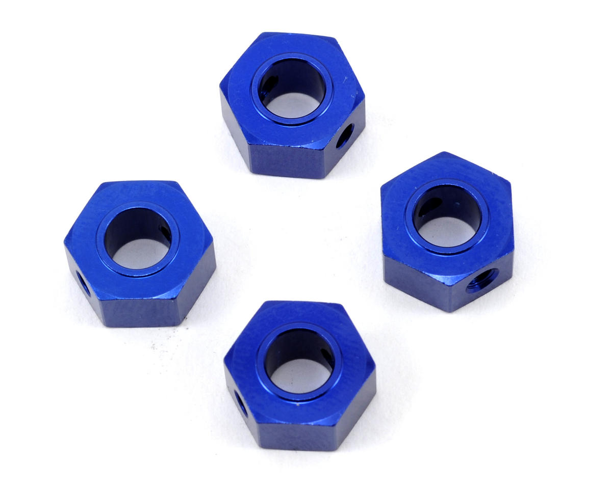 Traxxas 12mm Aluminum Hex Wheel Adapter (Blue) (4)