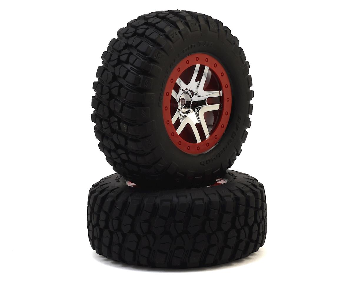 Traxxas Telluride 4x4 BFGoodrich Mud TA Rear Tires (2) (Satin Chrome)