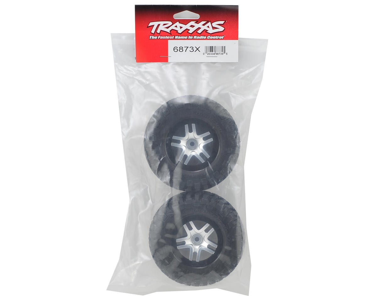 Traxxas BFGoodrich Mud TA Rear Tires (2) (Satin Chrome) (S1)