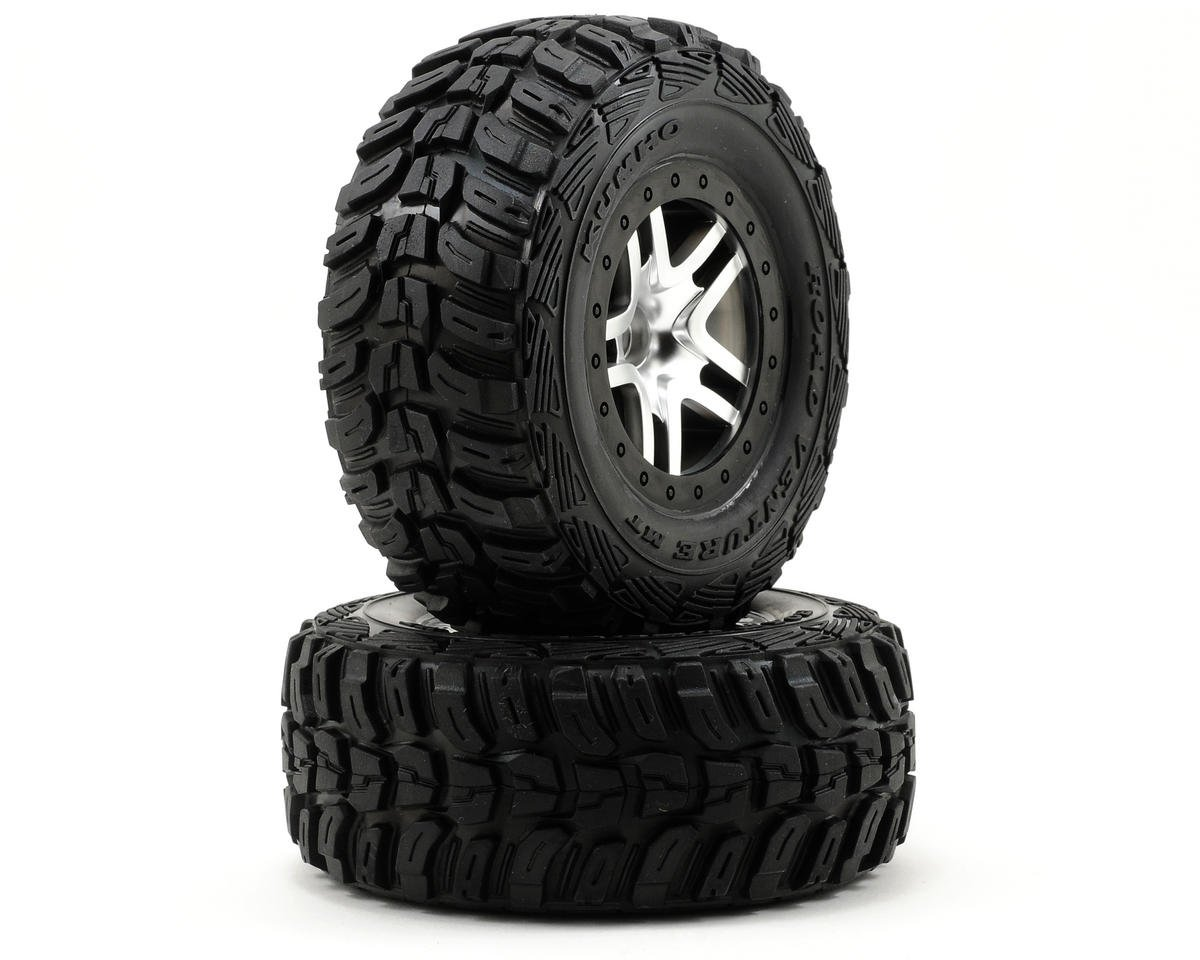 Traxxas Kumho Venture MT Rear Tires (2) (Satin Chrome) (Standard)