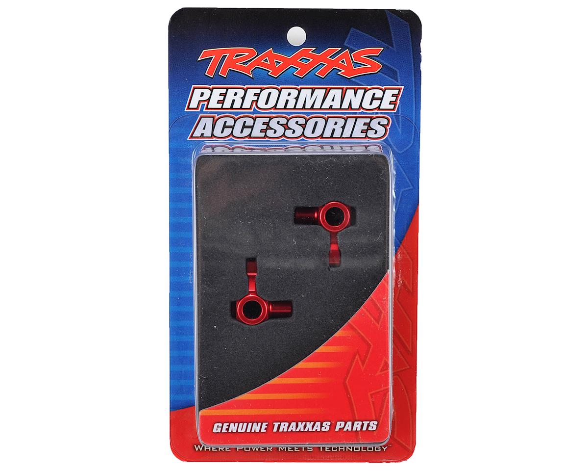 Aluminum Steering Block Set (Red) by Traxxas