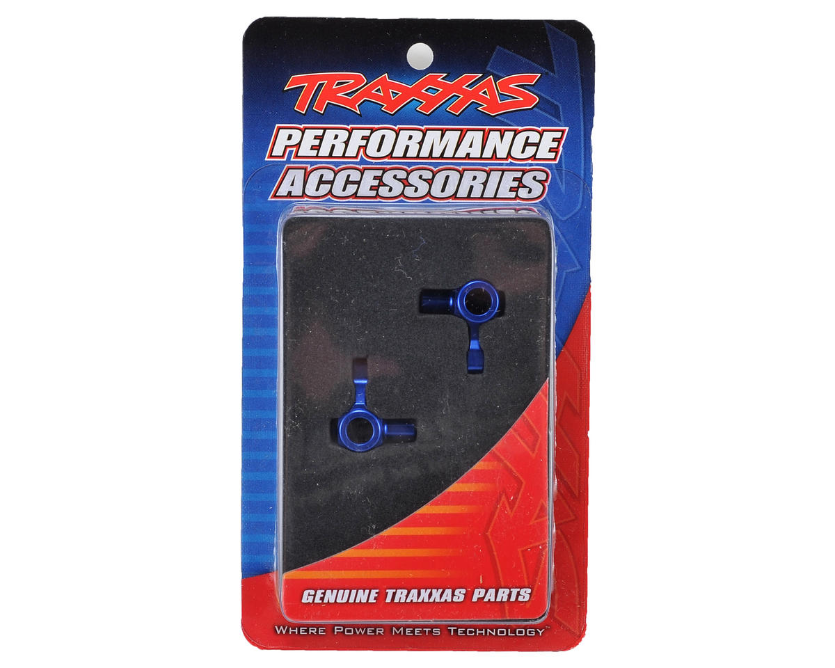 Traxxas Aluminum Steering Block Set (Blue)