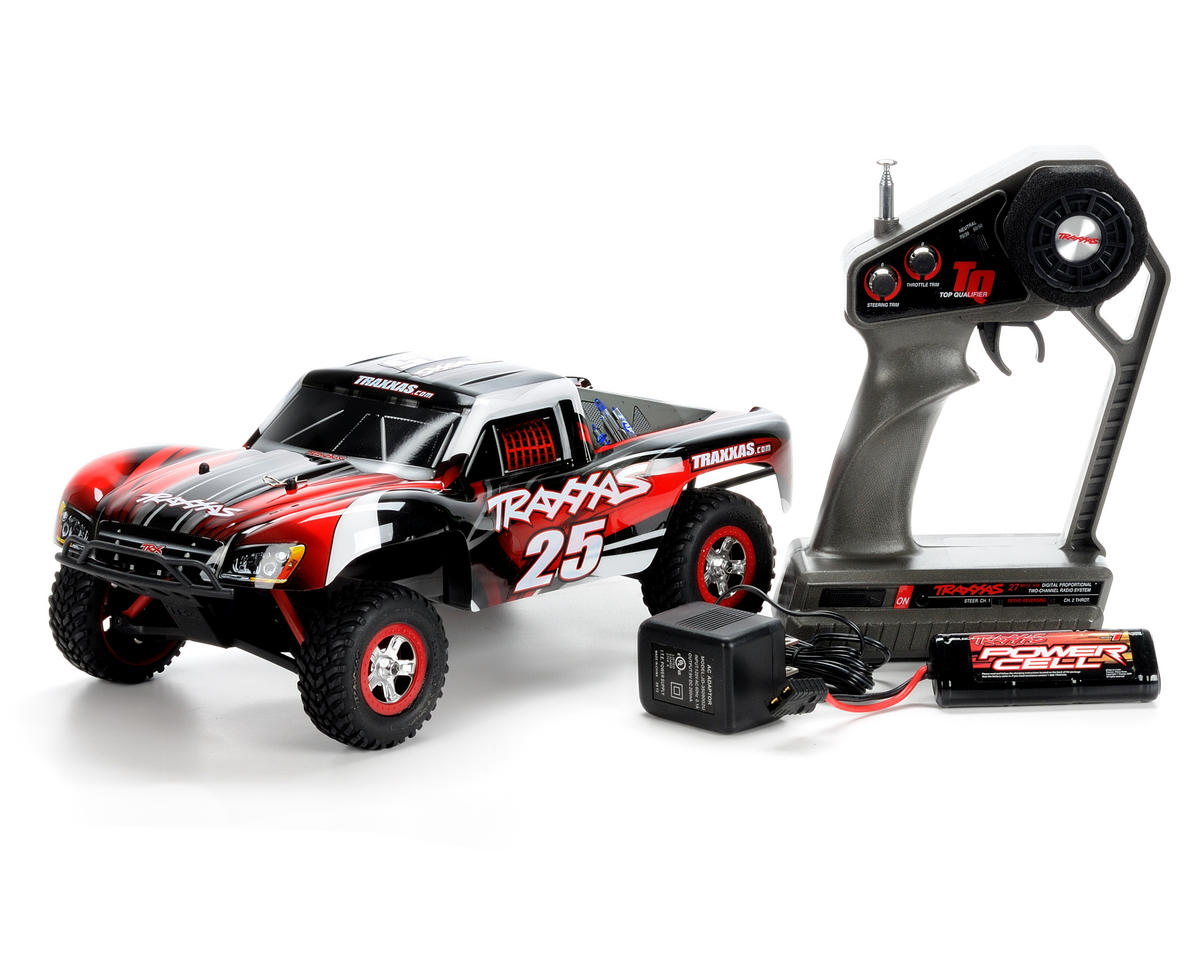 Traxxas 1 16 Slash Vxl Brushless 1 16 Scale 4wd Rtr Short Course Truck W Battery Wall Charger Tra7008 Cars Trucks Amain Hobbies