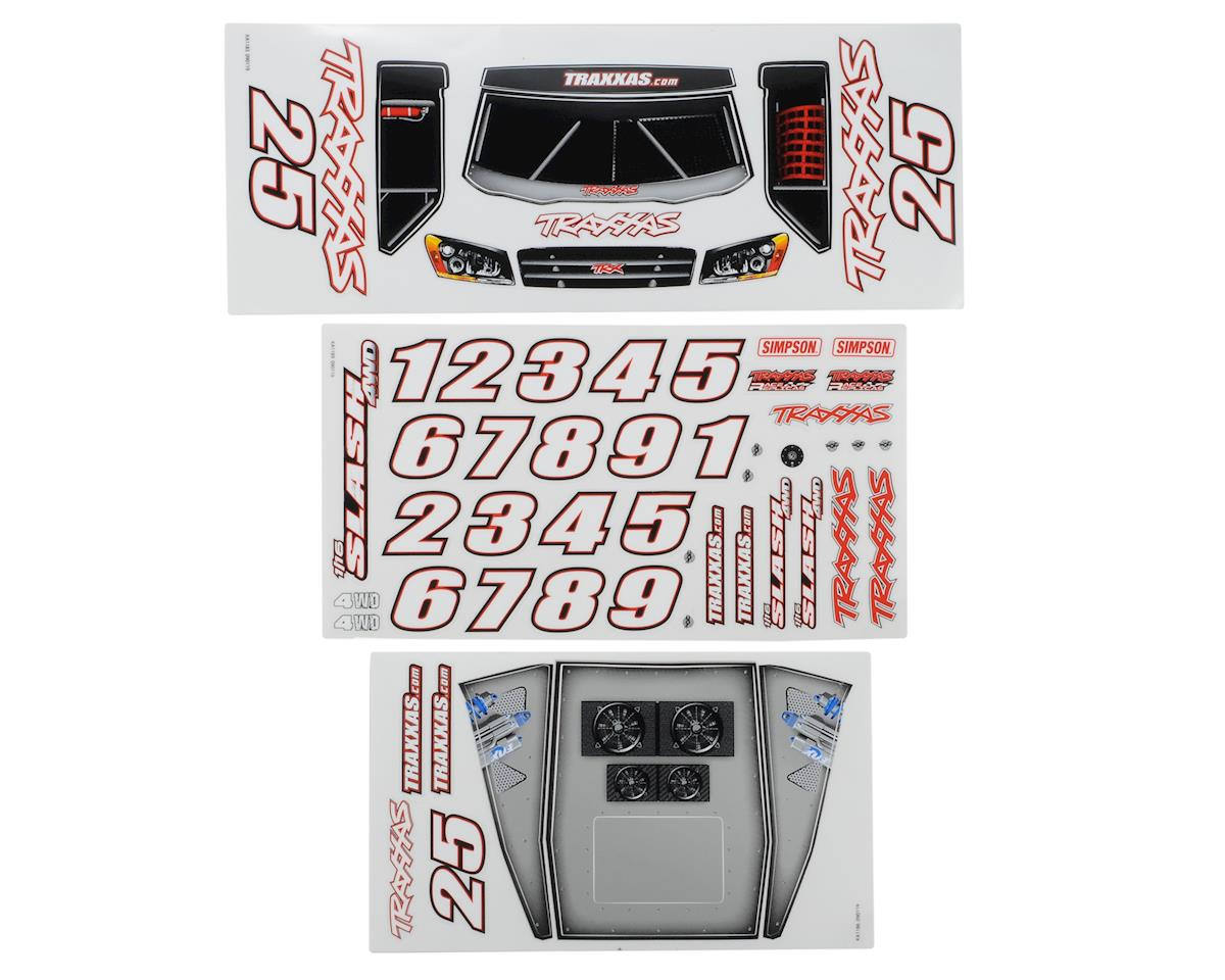 Traxxas 1/16 Slash Decal Sheet (3)