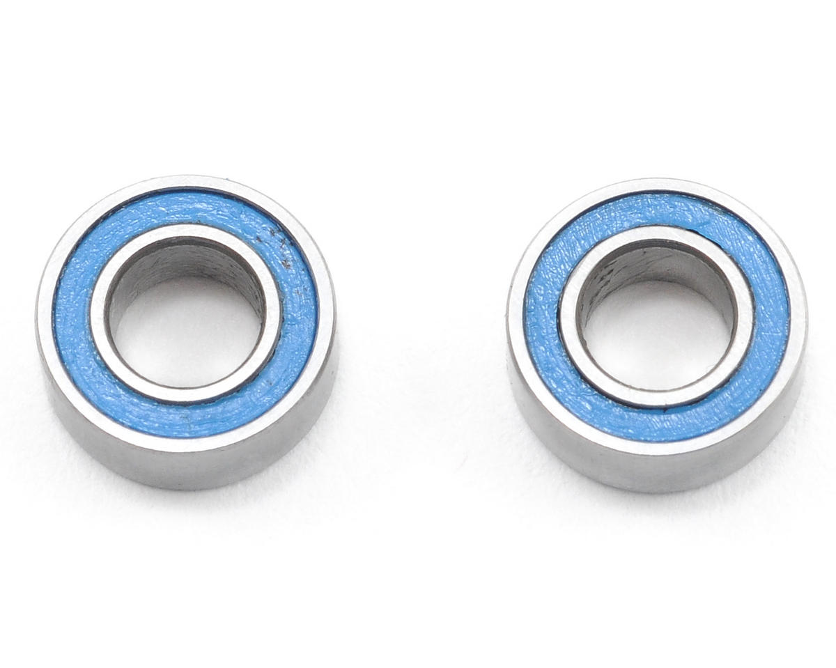 4x8x3mm Blue Rubber Sealed Ball Bearings (2) by Traxxas