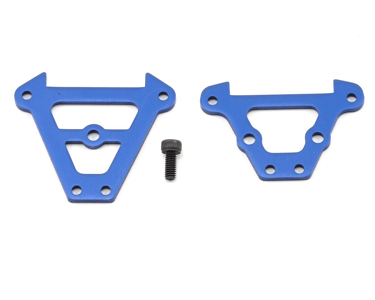 Front & Rear Aluminum Bulkhead Tie Bars (Blue) by Traxxas