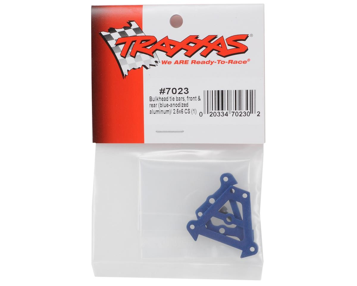Traxxas Front & Rear Aluminum Bulkhead Tie Bars (Blue)