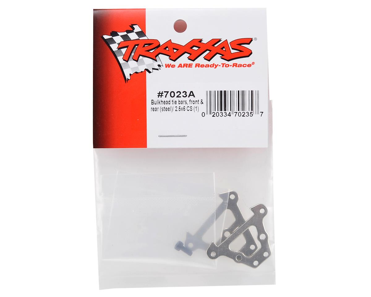 Traxxas Front & Rear Steel Bulkhead Tie Bar Set (2)